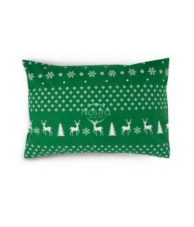 Flanelės pagalvės užvalkalas su užtrauktukais 10-0544-GREEN