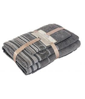 3 pieces towel set T0044 T0044-GREY