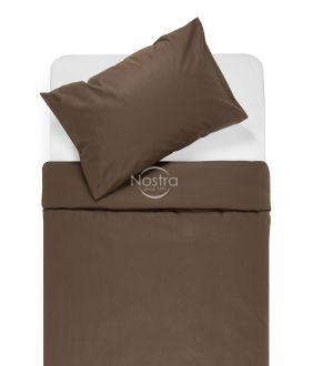 Cotton bedding set DOTTY 00-0154-DARK BROWN
