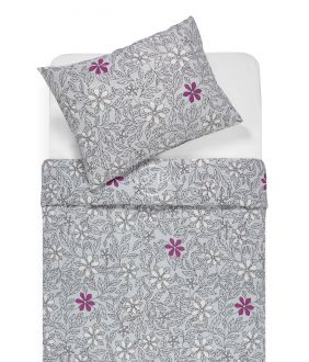 Flannel bedding set BETHANY 20-1549-GREY