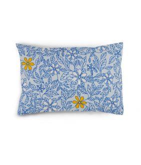 Flanelės pagalvės užvalkalas su užtrauktukais 20-1549-BLUE