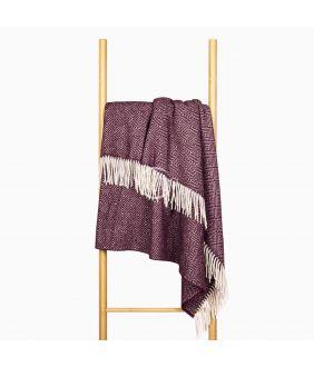 Woolen plaid MERINO-300 80-3131-DARK PLUM
