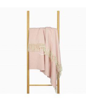 Woolen plaid MERINO-300 80-3253-LIGHT PINK