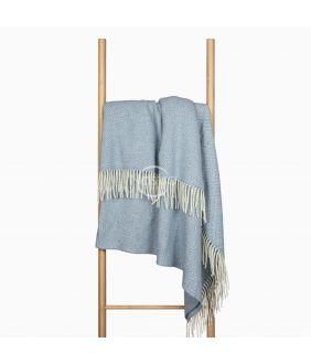 Woolen plaid MERINO-300 80-3131-LIGHT BLUE
