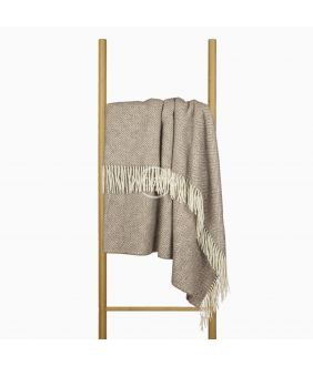 Woolen plaid MERINO-300 80-3131-LIGHT BROWN