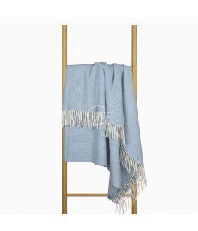 Woolen plaid MERINO-300 80-3253-LIGHT BLUE