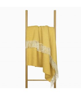 Woolen plaid MERINO-300 80-3253-MUSTARD