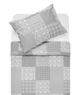 Cotton bedding set DORITA 30-0567-GREY