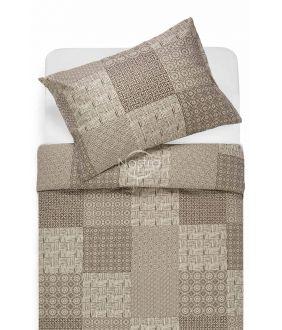 Cotton bedding set DORITA 30-0567-BROWN