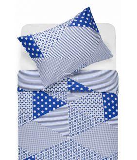 Cotton bedding set DORCEY 30-0571-BLUE