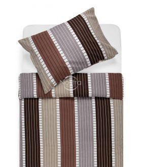 Cotton bedding set DORA 30-0572-BROWN