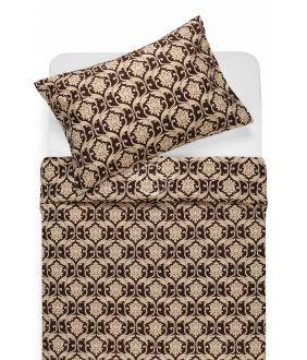 Cotton bedding set DIONA 30-0570-BROWN