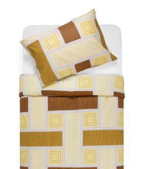 Cotton bedding set DIAMANDA 30-0575-BROWN