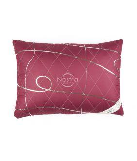 Pillow VASARA with zipper 70-0022-BEET RED/SILV