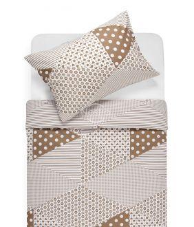 Cotton bedding set DORCEY 30-0571-CACAO