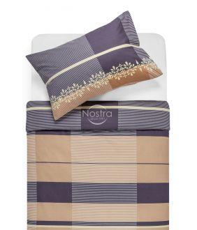 Cotton bedding set DOROTE 30-0164-BROWN