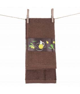 Кухонное полотенце 350GSM T0113-DARK CHOCO