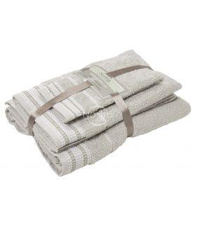 3 pieces towel set T0044 T0044-LINEN