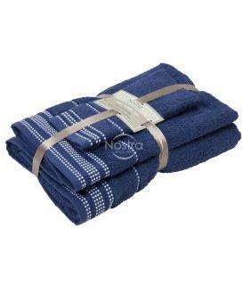 3 pieces towel set T0044 T0044-NIGHT BLUE