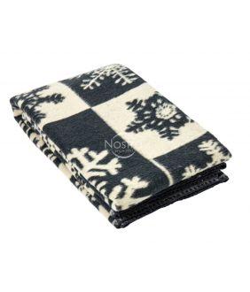 Шерстяное одеяло из мэриноса 80-3128-DARK GREY