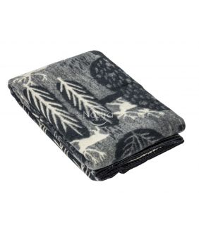 Шерстяное одеяло из мэриноса 80-3180-DARK GREY