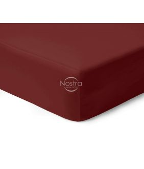 Атласная простыня на резинке 00-0412-WINE RED
