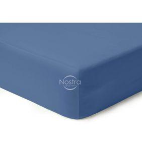 Атласная простыня на резинке 00-0271-BLUE
