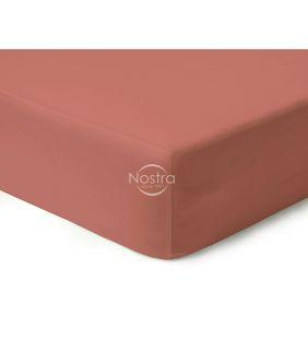 Атласная простыня на резинке 00-0132-TEA ROSE