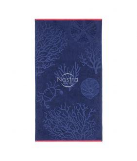 Beach towel 365J VELOUR T0125-DARK BLUE
