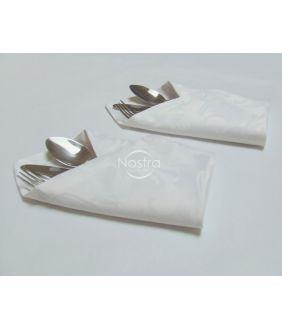 Жаккардовые сатиновые салфетки, 6 штук 80-0005-WHITE