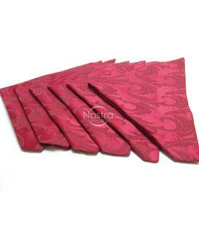 Žakardinio satino servetėlės, 6 vnt 80-0005-BORDO