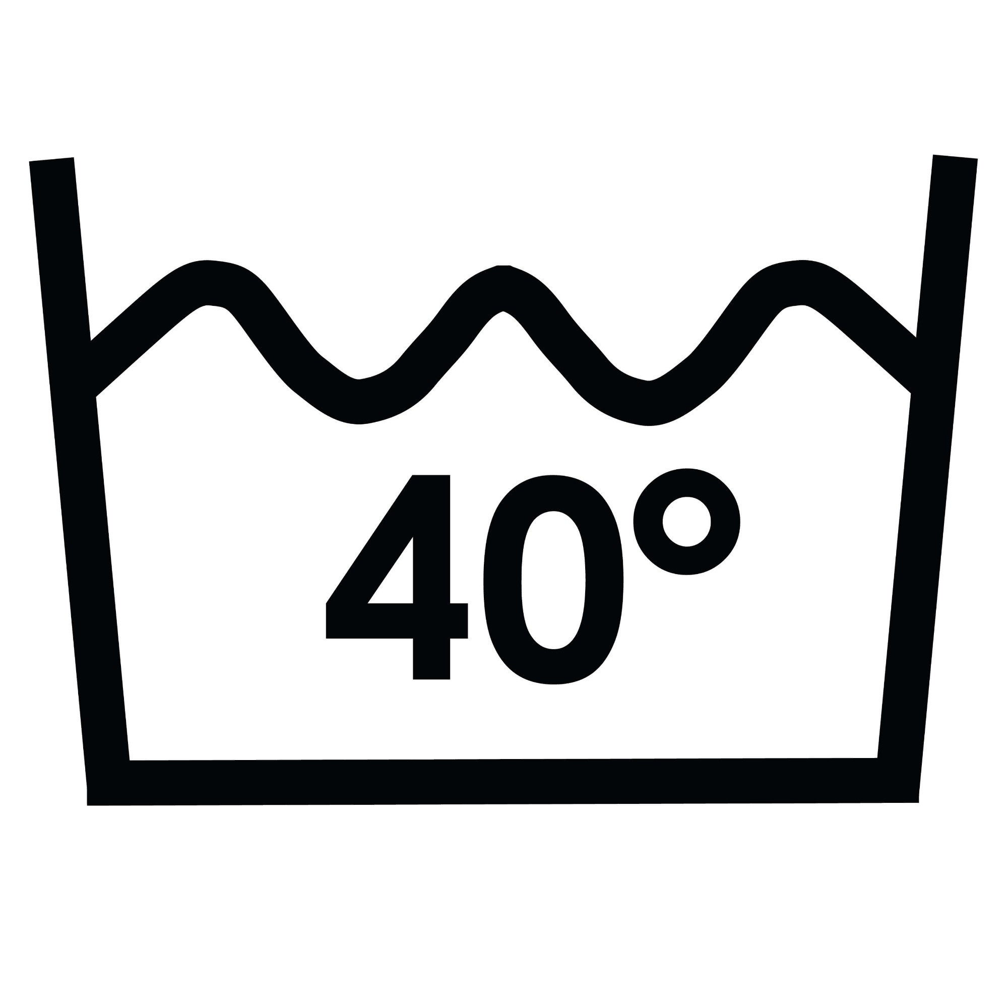 Wash temperature 40°C