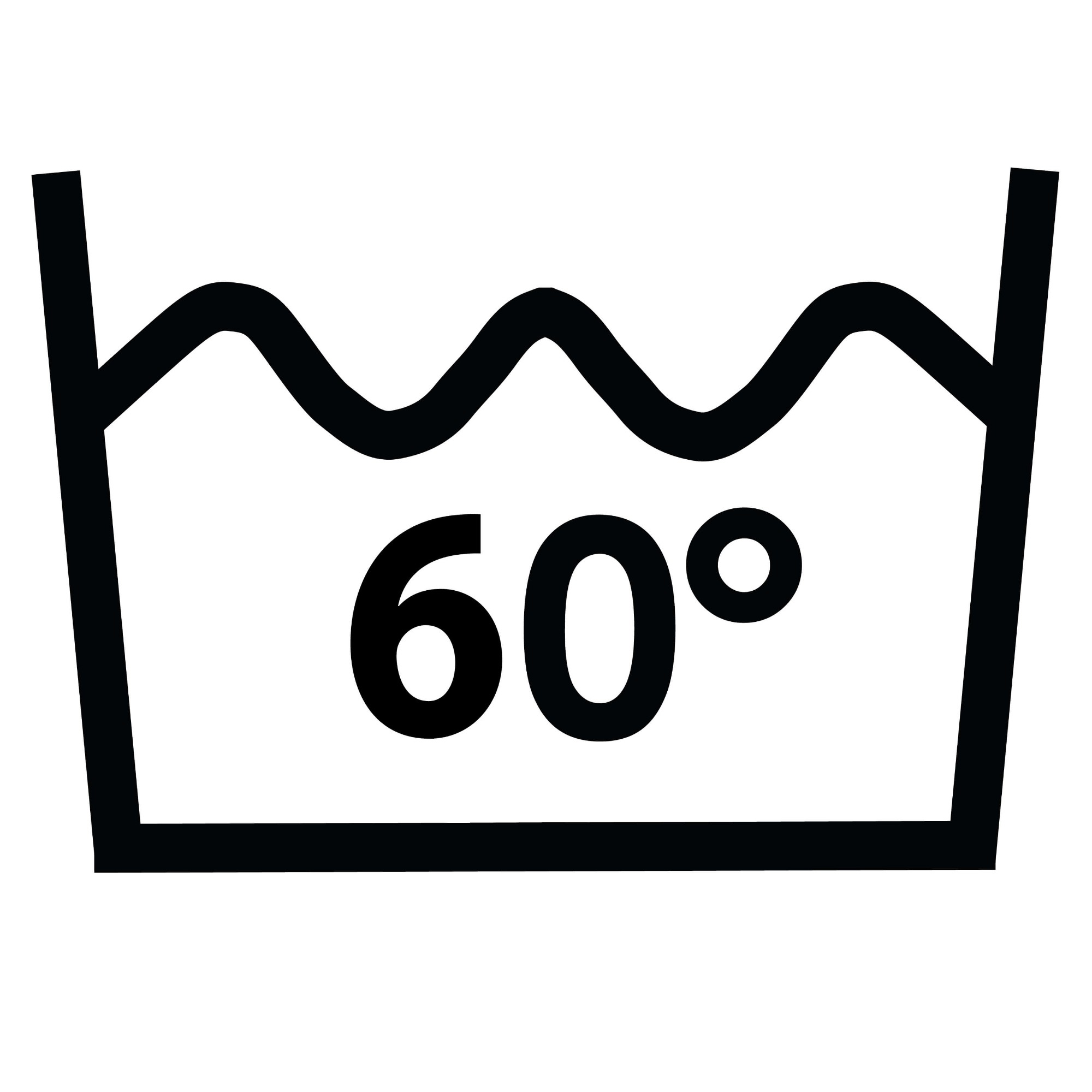 Wash temperature 60°C